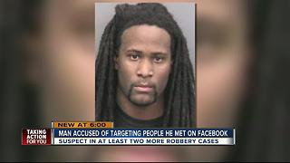 Man accused of targeting people he met on facebook - Video