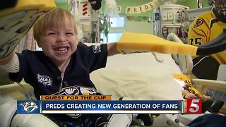 Preds Bring Happiness To Young Hockey Fan - Video