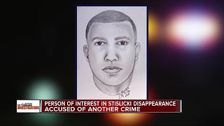 Person of interest in Stislicki disappearance accused of another crime - Video