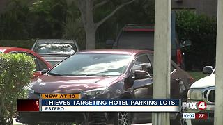 Thieves target trucks in hotel parking lots