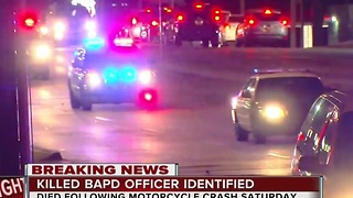 BA police officer killed in crash identified - Video