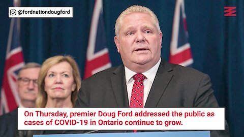 Ford Says Ontarians Won't Get Evicted If They Can't Pay Rent This Month