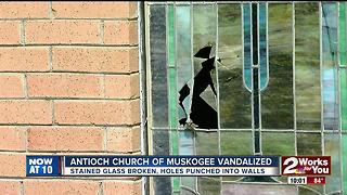 Antioch Church of Muskogee vandalized - Video