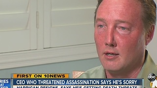 CEO who threatened assassination says he's sorry - Video