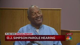 Laughter breaks out at O.J. Simpson parole hearing as commissioner mistakenly says he's 90 years old - Video