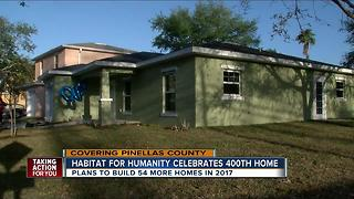 Habitat for Humanity celebrates 400th home - Video