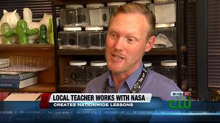 Local teacher working on lesson plans with NASA - Video