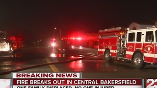 Fire crews battle fire in central Bakersfield