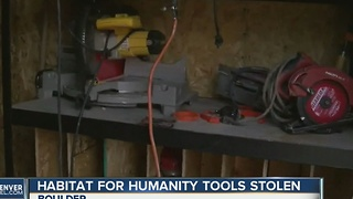 Tools stolen from Habitat for Humanity site - Video