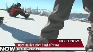 Opening day at several ski resorts after first snow - Video