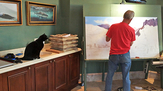 Sid the Cat critiques his Dad's Painting - Video