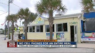 Ditch your phone at meal time, get a discount! - Video