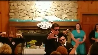 Men In Black..Belts!  Wedding Dance Video - Video