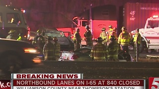 Fatal Crash Closes I-65 North - Video