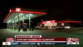 East Tulsa Quiktrip robbed at gunpoint overnight - Video
