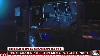 19-year-old killed in motorcycle crash in St. Pete - Video