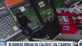 Business break-in caught on camera - Video