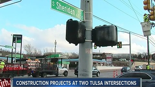 Construction Projects Begin At Two Major Intersections - Video