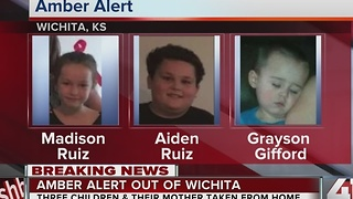 AMBER Alert issued for 3 Wichita children; 2 suspects in custody - Video