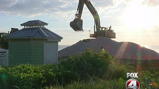Collier beach renourishment could last until the end of the year - Video