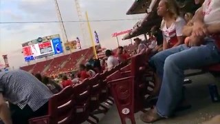 Baseball Fan Screams Votto's Name - Video