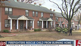 Child Hospitalized After Apartment Fire - Video