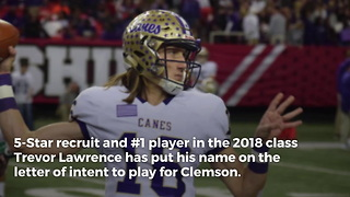 Nation's Top QB Recruit Signs With Clemson