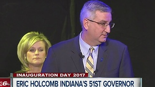 Eric Holcomb becomes Indiana's 51st Governor