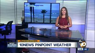 10News Pinpoint Weather with Meteorologist Angelica Campos