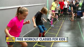 Pasco County gym offers FREE workouts for kids to curb childhood obesity - Video