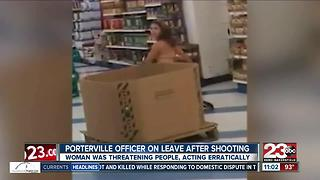 Porterville officers shoot Bakersfield woman holding a knife inside 99 Cents Store - Video