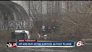 Hit-and-run victim survives 40-foot plunge into Fall Creek - Video