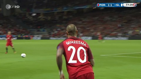 Quaresma vs Iceland (Euro 2016) HD 720p by Gomes7