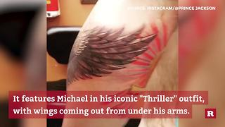 Prince Jackson's new tattoo tribute to his father | Rare People - Video