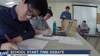 Racine school district proposes earlier start time for high schools - Video