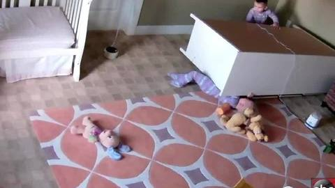 VIDEO: 2-year-old boy saves twin brother from fallen dresser