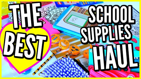 BACK TO SCHOOL SUPPLIES HAUL & GIVEAWAY! Weird School Supplies You Haven't Seen!