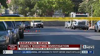 Shooting near Sahara and Karen avenues - Video