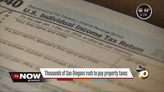 Nearly 200K San Diegans prepay property tax - Video