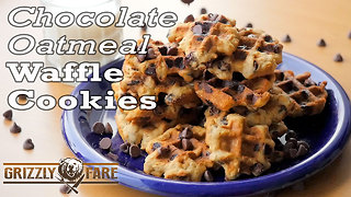 Chocolate oatmeal waffles - Video
