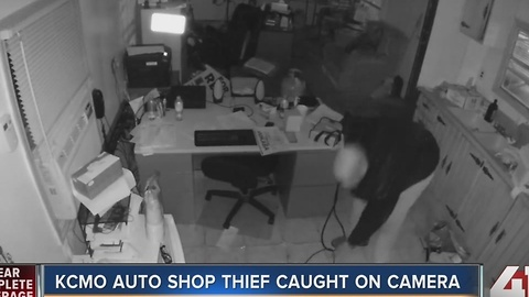 Surveillance video shows thief stealing from KCMO dealership