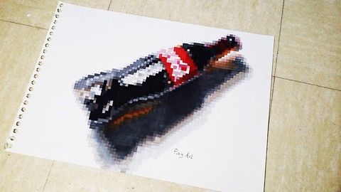Realistic Coca Cola Bottle Drawing with Pixels!