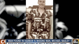 Michael Bagley's body found in harbor - Video