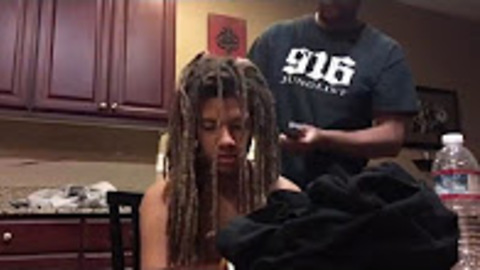 Teen Surprises Mom By Cutting Off 9-Year-Old Dreadlocks, She Takes One Look At Him And Starts To Cry