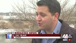 City worker finds body in Kansas River - Video