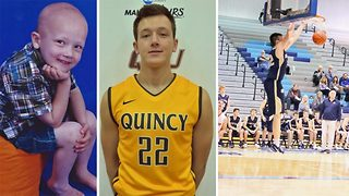 Cancer survivor achieves dream of playing college basketball - Video