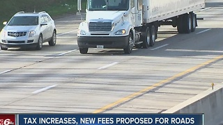 Indiana lawmakers propose tax increases, new fees for road repairs - Video