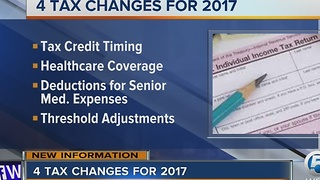 4 tax changes for 2017 - Video