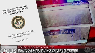 Baltimore mayor, Attorney General Loretta Lynch to announce consent decree agreement - Video