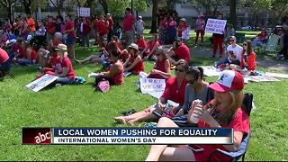 International Women's Day: 150+ women rally in St. Petersburg